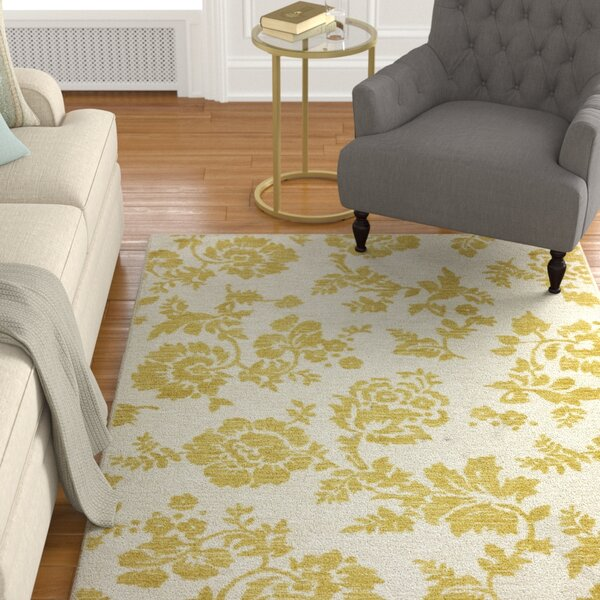 Fuhrmann Freemont Sunset Pale Yellow Area Rug by Alcott Hill