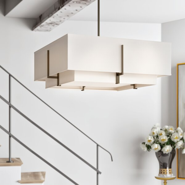 Exos 4-Light Square/Rectangle Chandelier by Hubbardton Forge