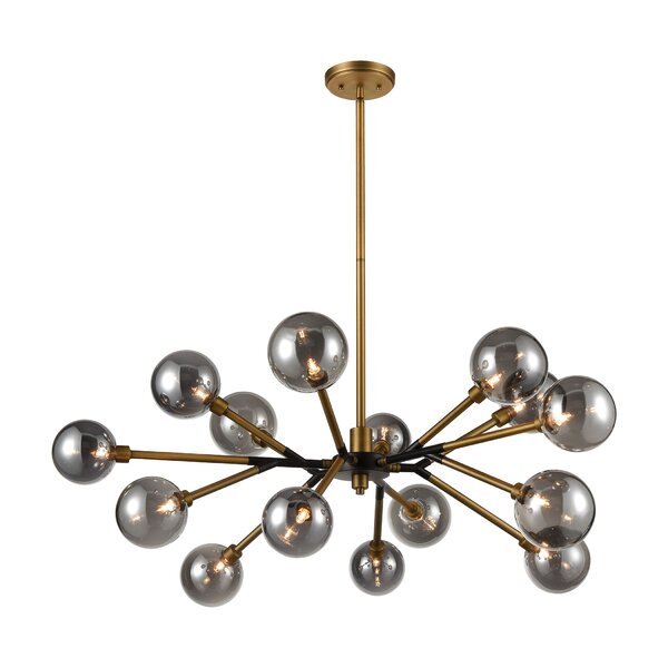 Sirmans 15 - Light Unique Geometric Chandelier By Mercer41