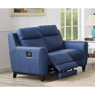 Florence Power Genuine Leather 2 Seater Reclining Sofa By HydeLine Furniture