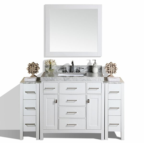 Laub 65 Single Bathroom Vanity Set with Mirror by House of Hampton