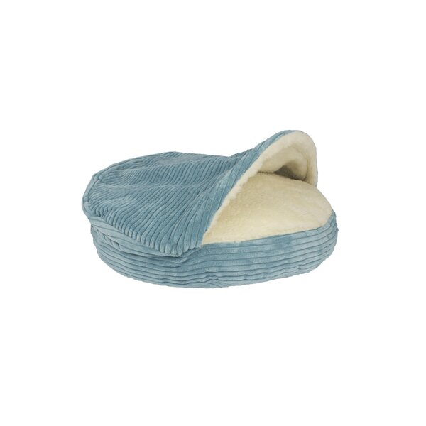 Burton Corduroy Round Cave Hooded Pet Bed with She
