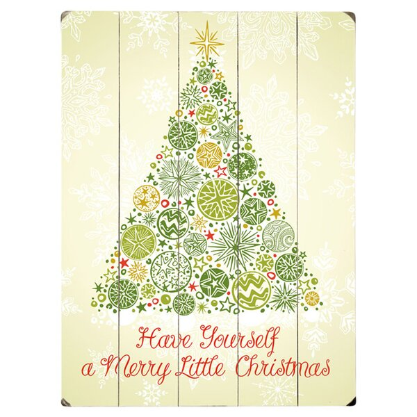 Merry Little Christmas Graphic Art Print Multi-Piece Image on Wood by Artehouse LLC