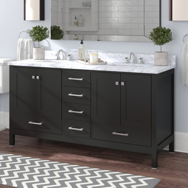 Arnab Transitional 59 Double Bathroom Vanity Set by Latitude Run