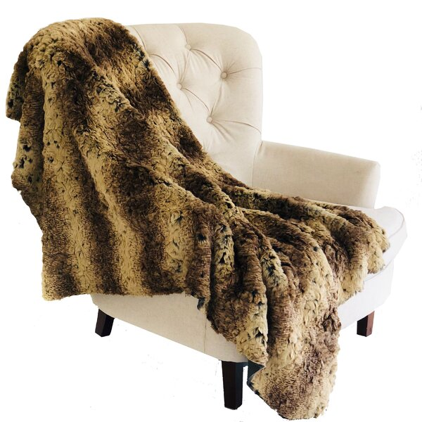 Melra Luxury Chinchilla Faux Fur Throw by Mercer41