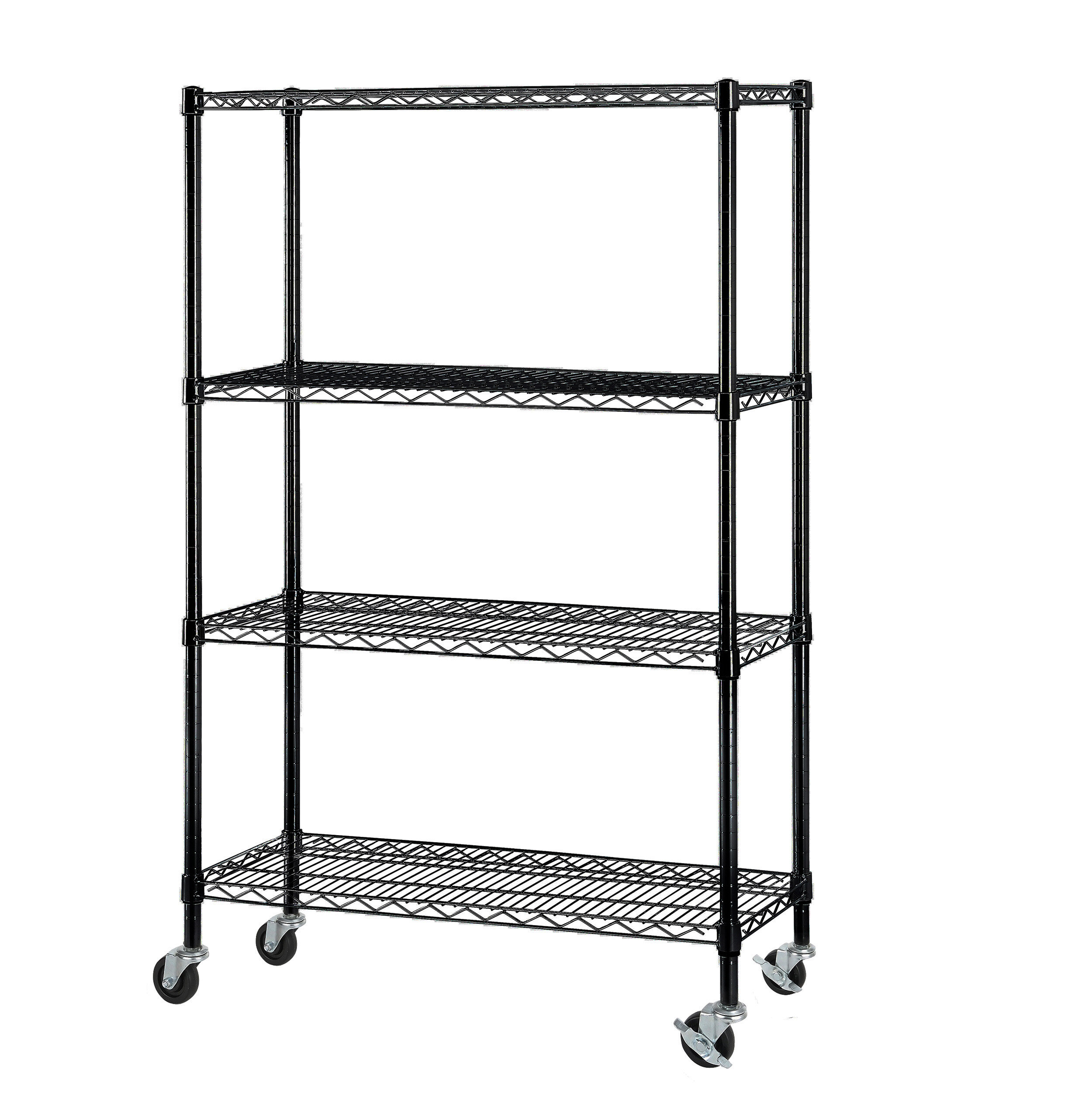 Excel 4-Tier Wire Shelving Unit with Caster & Reviews | Wayfair
