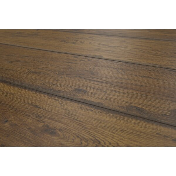 Geneva 8.5 x 48 x 12mm Oak Laminate Flooring in Medium Brown by Branton Flooring Collection