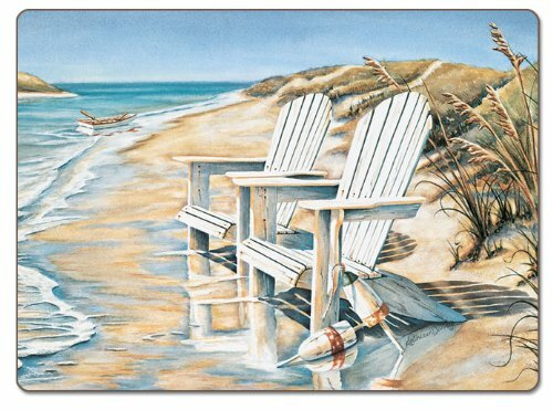 Beach Days Hardboard Placemat (Set of 2) by CounterArt