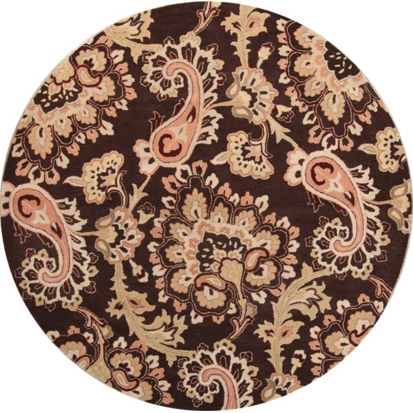 Camdyn Hand-Tufted Wool Brown/Beige Area Rug by Isabelline