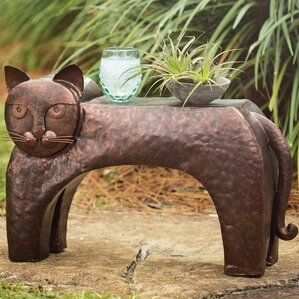 Metal Cat End Table by Wind & Weather