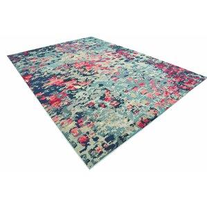 fujii blue area rug