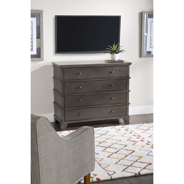 Marival Media 4 Drawer Chest by August Grove