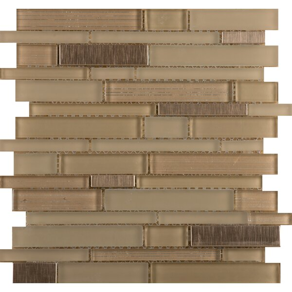 Flash 12 x 13 Glass Linear Mosaic Tile in Brilliant by Emser Tile