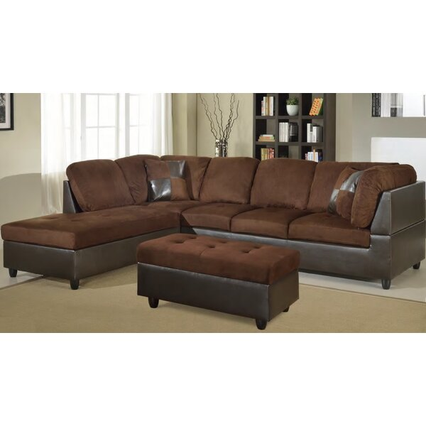 McGuinness Sectional with Ottoman by Winston Porter