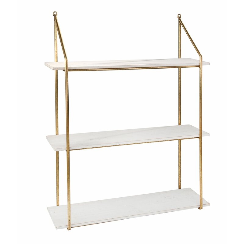 Metal 3 Tier Wall Shelf