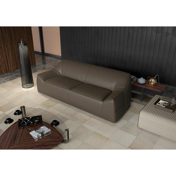 Web Shopping Cliff Leather Sofa by Modloft by Modloft