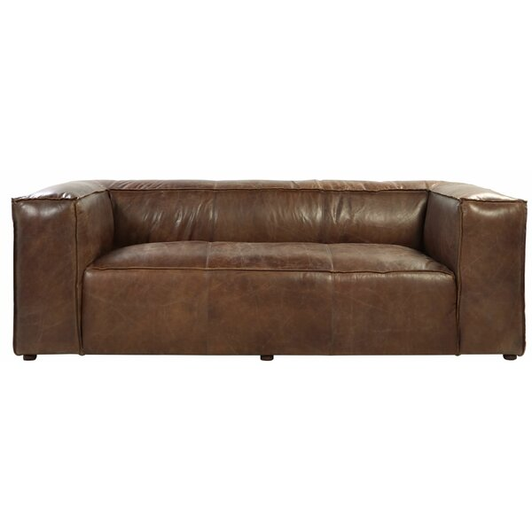 Regina Leather Sofa by 17 Stories