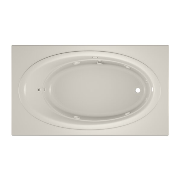 Nova Right-Hand Heater and Chroma Oyster 72 x 42 Drop in Whirlpool Bathtub by Jacuzzi®