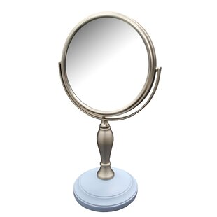 Compare prices Albina Freestanding Bath Magnifying Makeup Mirror ByWinston Porter