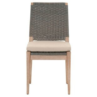 Hacker Wooden Armless Upholstered Dining Chair (Set Of 2)