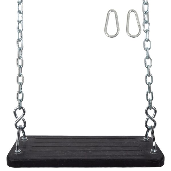 Mega Flat Seat with Uncoated Chain by Swing Set Stuff