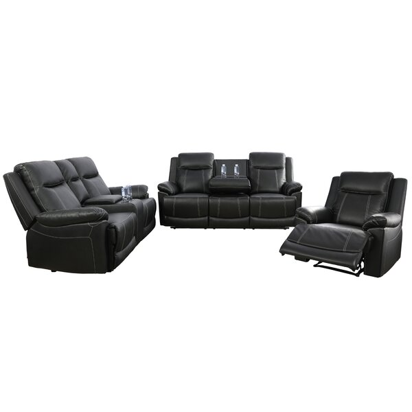 Rone 3 Piece Recliner Living Room Set by Canora Grey