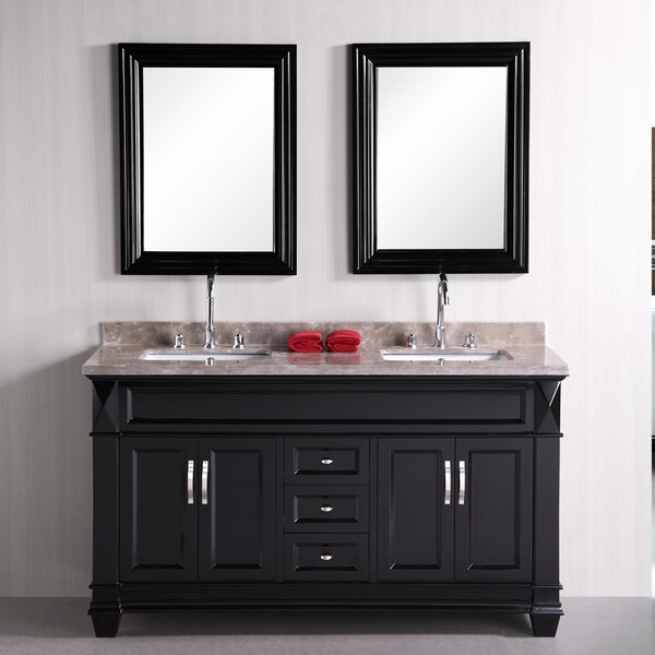 Melwood 61 Double Bathroom Vanity Set with Mirror by Andover Mills
