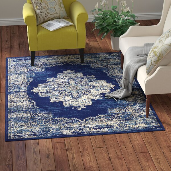 Susan Blue Area Rug by Charlton Home