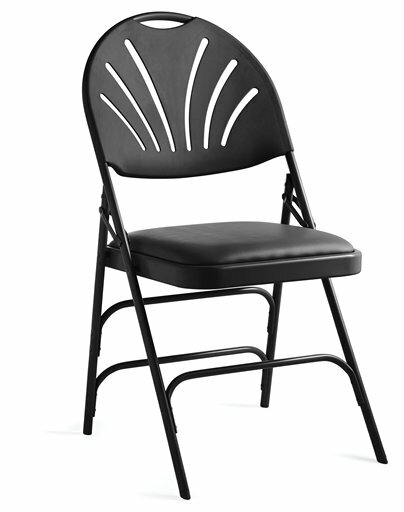XL Series Vinyl Padded Folding Chair (Set of 4) by Samsonite Furniture