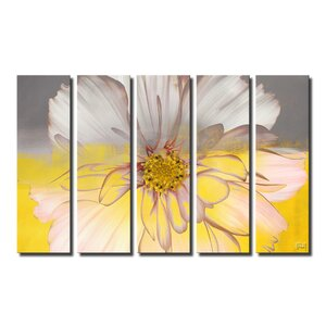 'Painted Petals XXXIV' Framed Graphic Art Print on Canvas by Latitude Run