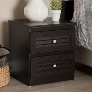 Clearance Gillett 2 Drawer Nightstand by Ebern Designs