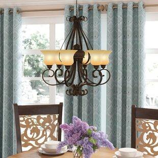 Best Choices Gregory 6-Light Shaded Chandelier By Three Posts