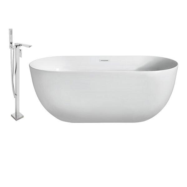 67 x 24 Freestanding Soaking Bathtub by Wildon Home ®