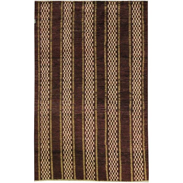 One-of-a-Kind Afghan Gabbeh Hand-Knotted Wool Burnt Orange Area Rug by Bokara Rug Co., Inc.