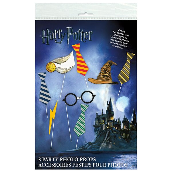 10 Piece Harry Potter Plastic Paper Disposable Photo Prop Set [NA]