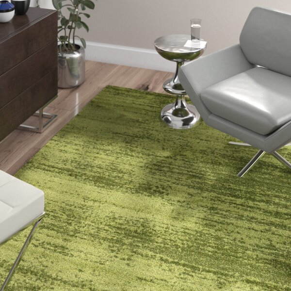 Barhorst Green Area Rug by Wade Logan