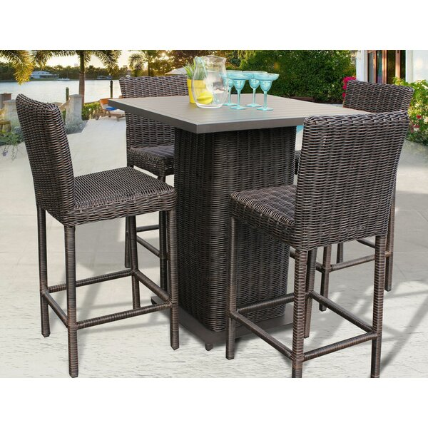 Eldredge 5 Piece Bar Height Dining Set by Rosecliff Heights
