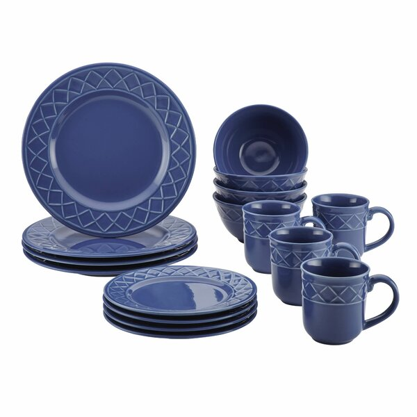 Paula Deen 16 Piece Dinnerware Set, Service for 4 by Paula Deen