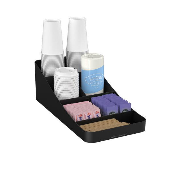Trove 7 Compartment Coffee Condiment Organizer by Mind Reader