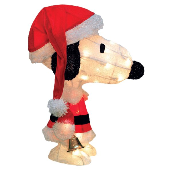 Peanuts Charlie Brown in Santa Suit Yard Art Christmas Decoration by Product Works