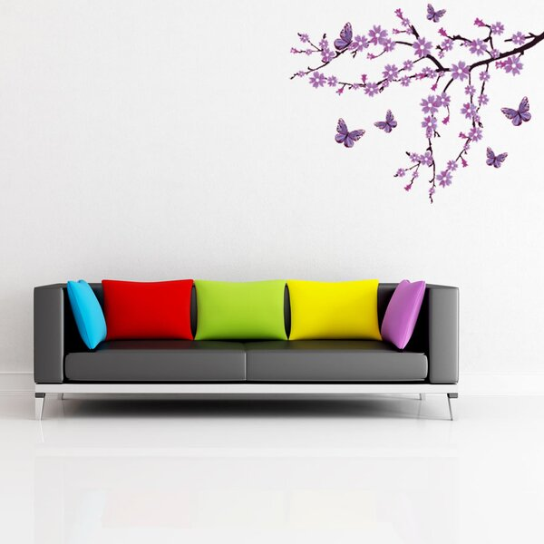 Lilac Blossom Branch Wall Decal by Style and Apply