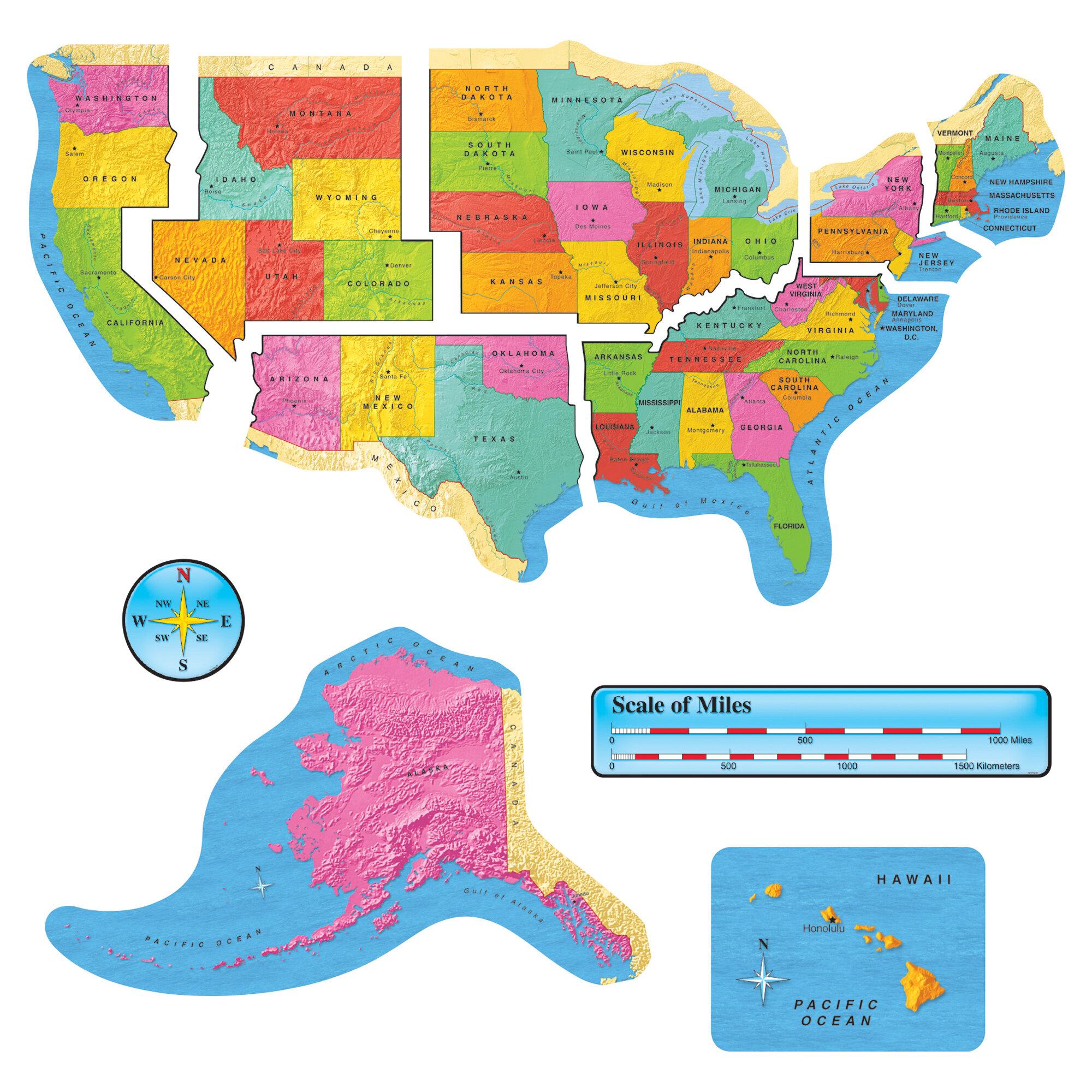Us Map Wide Gr 1-8 Accent Bb Set