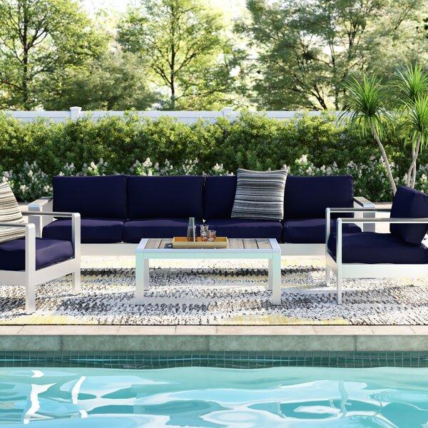 Coline 4 Piece Sofa Set with Cushions by Orren Ellis Orren Ellis