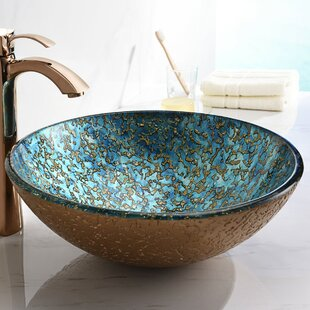 Affordable Price Chrona Glass Circular Vessel Bathroom Sink By ANZZI