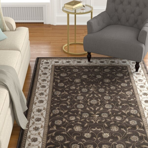 Ackermanville Brown/Ivory Area Rug by Charlton Home