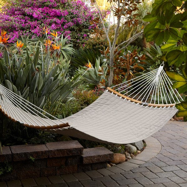 Amaliya® ConnectCurve™ Quilted Double Tree Hammock by Highland Dunes