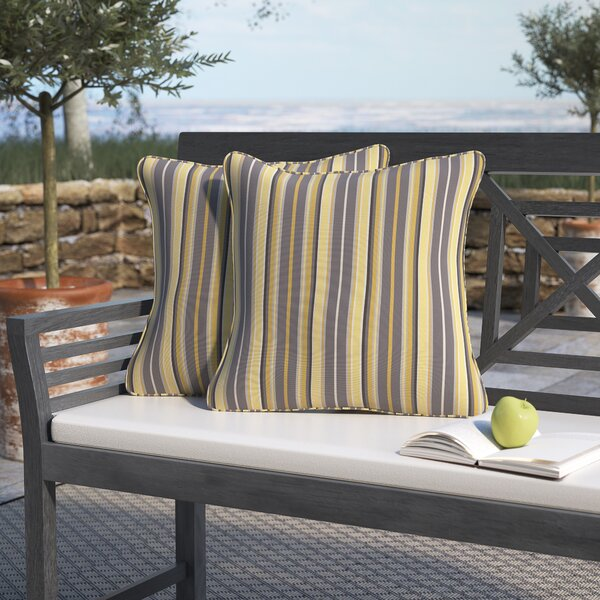 Catherine Indoor/Outdoor Sunbrella Throw Pillow (Set of 2) by Darby Home Co