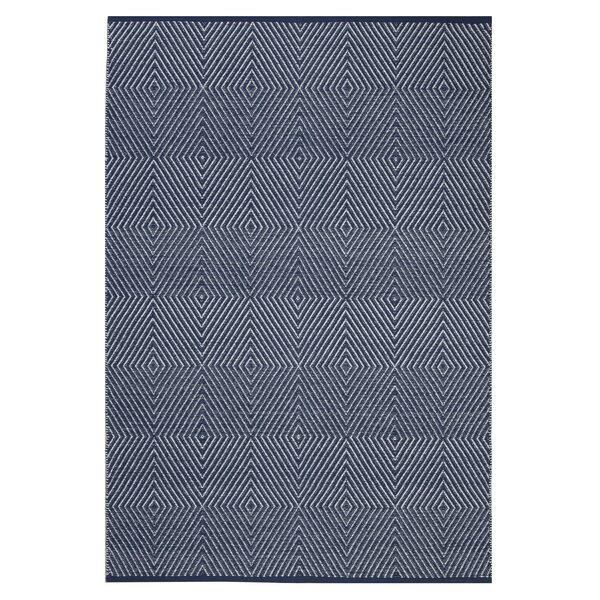 Criswell Hand-Woven Cotton Dark Blue Area Rug by Wrought Studio