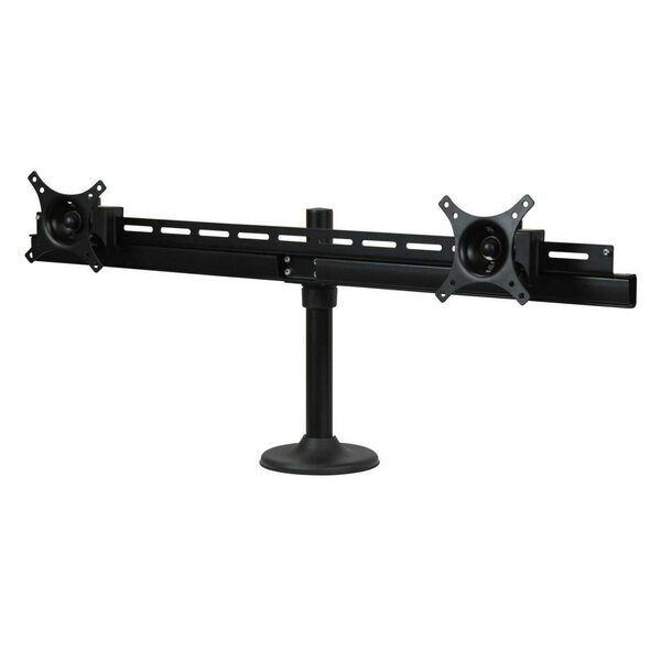Duplex Dual TV/Monitor Height Adjustable Universal 2 Screen Desktop Mount by Dyconn