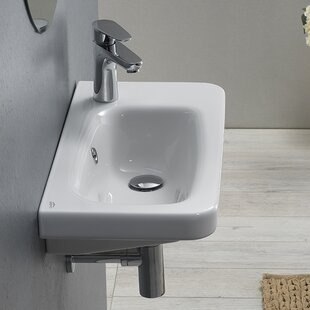Shopping for Noura Ceramic Rectangular Drop-In Bathroom Sink with Overflow By CeraStyle by Nameeks